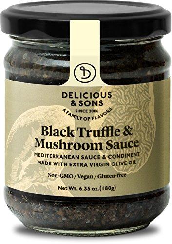 Delicious & Sons Black Truffle & Mushroom Sauce 6.35 oz.