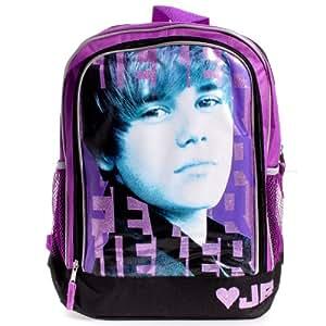Amazon.com: Justin Bieber Bieber Backpack - Purple and ... - photo #13