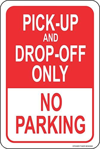 Sticker Tiger Pick up Drop Off only NO Parking Metal Novelty Parking Sign 8