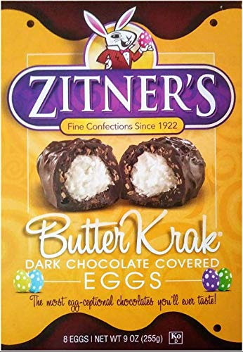 (Zitner's Butter Krak Eggs, Dark Chocolate Covered Eggs, (2) 8 Count Boxes (Total 1 Pound, 2 Ounces))