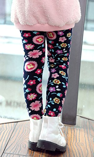 BogiWell Kid Girl Winter Cute Warm Thick Fleece Legging Pant Type 8(US 6-8T, Tag 150) by BogiWell (Image #3)