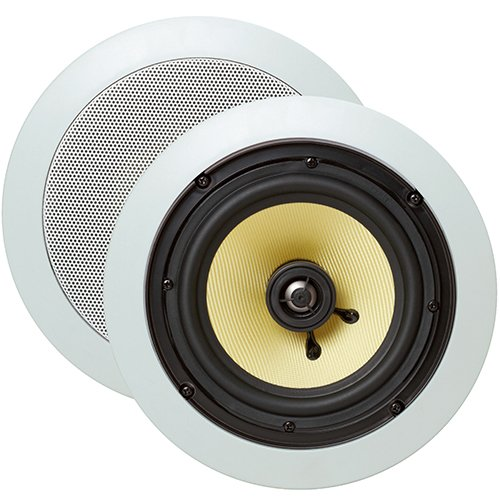 Cmple - 6.5-Inch Pair of 2-Way In-Wall/In-Ceiling Kevlar Speakers - (Best Cmple In Ceiling Speakers)