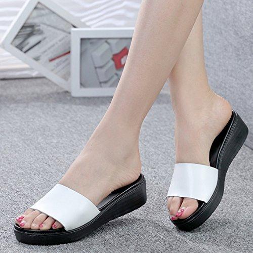 las sandalias las las tamaño las verano Deslizadores 2 opcional de del opcionales Deslizadores Aumentado A sandalias B de sandalias Cómodo manera de EU39 la Tamaño de flores de Color colores wxq6YXET8B