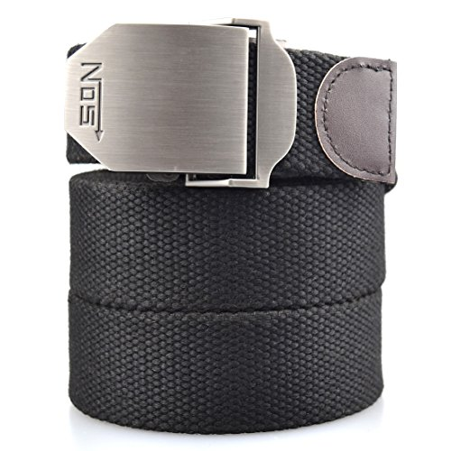 Men's Canvas Web Belt Military Style With Nickel Free Buckle & 50