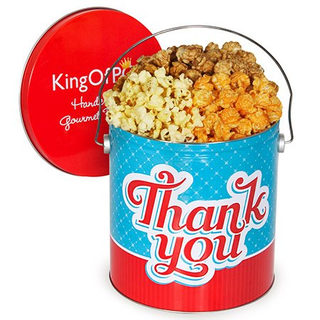 Thank You Popcorn Tin - Traditional Mix