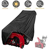 "Tvird Snow Thrower Cover, Two Stage Snow Blower Cover, Large Size 60"" L x 33"" H x 45"" W for Most Electric Snow Blowers,Waterproof Dustproof,Includes Locks Drawstring,Buckles,and Carry Bag"