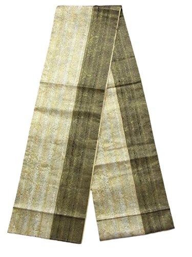 真実にワックス罪全通 袋帯 モノトーン 金彩 リサイクル 正絹