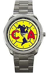 Club America Mexico Football Soccer 9CLGO137 Men's Wristwatches Stainless Steel
