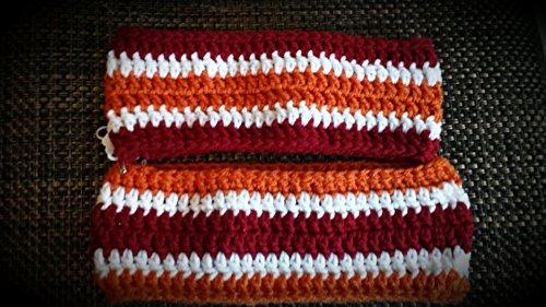 Virginia Tech Hokie football color - handmade ear warmers for a couple - two - matching