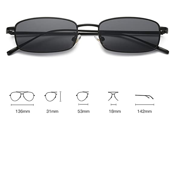 GAOLIXIA Gafas de Sol cuadradas pequeñas Personalidad de los ...