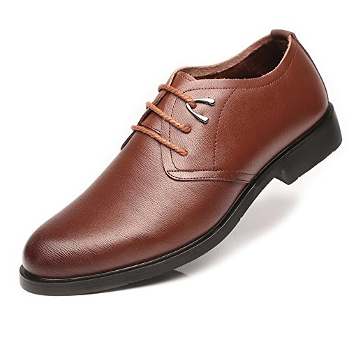 Formali PU Brown Shoes morbide 2018 Dress EU Winter classiche Gentlemen 42 da Black Flats suola Scarpe in pelle Color Estate Primavera Size Stringate uomo for wqwYCpz