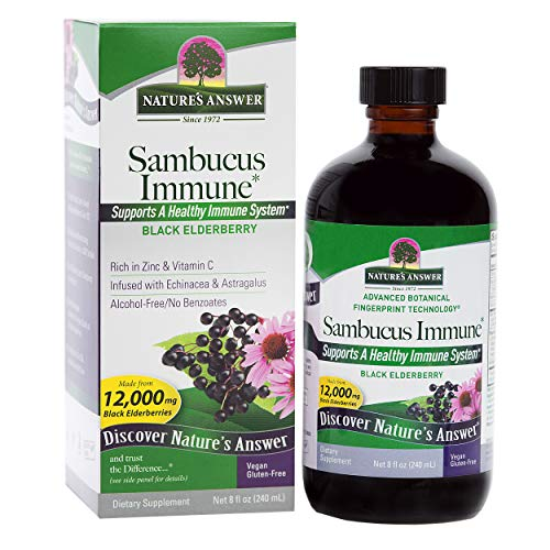 (Nature's Answer Alcohol-Free Sambucus Immune Support, 8 Fluid Ounce)