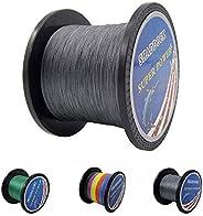 Braided Fishing Line PE Line 4 Strands, 10lb-133lb Multifilament Fishing Braide Line Abrasion Resistant Braide