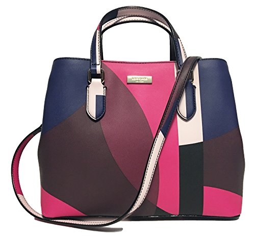 Kate Spade New York Laurel Way Evangelie Saffiano Leather Shoulder Bag Satchel (Pinkmulti) by Kate Spade New York