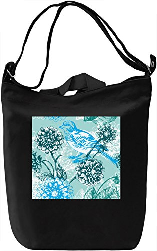 Bird In The Flowers Pattern Borsa Giornaliera Canvas Canvas Day Bag| 100% Premium Cotton Canvas| DTG Printing|
