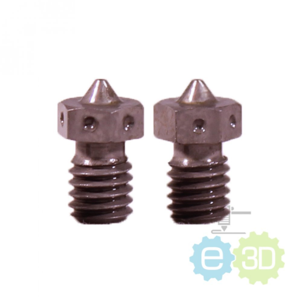 Genuine E3D v6 Extra Nozzle - Hardened Steel - 1.75mm x 0.35mm (set of 2 nozzles) Prusa i3 Reprap 3d printer