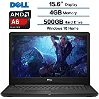 2018 Newest Dell Flagship Inspiron 15.6 (1366x768) HD Laptop, AMD A6-9200 accelerated Processor, AMD Radeon R4 Integrated Graphics, 4GB DDR4 SDRAM, 500GB HDD 5400RPM, Windows 10, Webcam