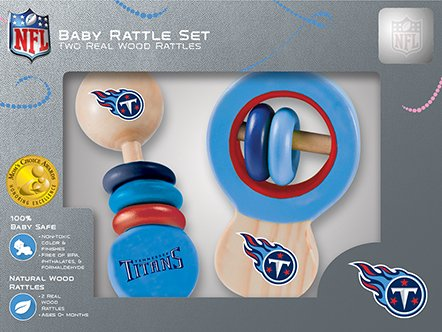 Tennessee Titans Set (Tennessee Titans Wooden Baby Rattle Set)