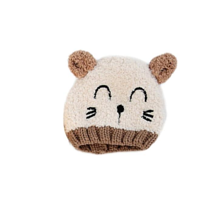 7a9d5e7c48cd Bonnet pour Enfants Lovely Spire Bonnet Bébé Garçon Fille Oreille de Chat  Mignon (Beige, 1-3ans)  Amazon.fr  Vêtements et accessoires
