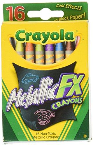 Crayola 52 8816 Metallic Crayons Count