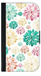 01-Scattered Flowers-Pattern-Wallet Case for the APPLE IPHONE 4, 4s ONLY!!!!!-PU Leather and Suede Wallet Iphone Case with Flip Cover that Closes with a Magnetic Clasp and 3 Inner Pockets for Storage by kobestar