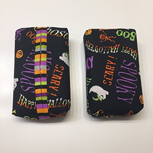 Qty 1- Halloween Words Personal Tissue Cover, Trendy print,Personal size, purse size, pocket size, travel size,N STOCK, ready to ship ()