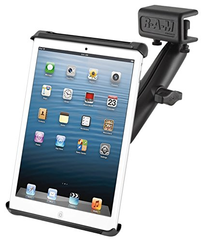 RAM MOUNTS (RAM-B-177-C-TAB2U Glare Shield Clamp Mount with Long Double Socket Arm and Tab-Tite Holder for Small Tablets Including The Amazon Kindle Fire and Apple Ipad Mini