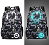Senkey style Men's Backpack Anime Starry sky Luminous Printing Teenagers Casual Mochila Men Women's Student Cartoon School Bags (M5)