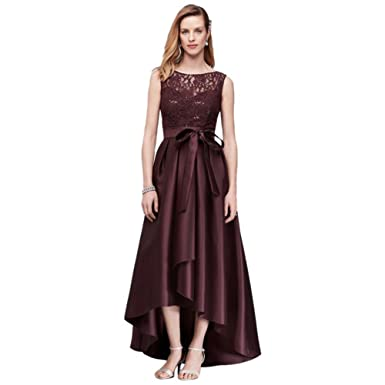 6e0ea201 David's Bridal Lace Sequin Mother of Bride/Groom Dress With Mikado Skirt  Style 3552DB,