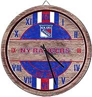 FOCO NHL Wooden Barrel Wall Clock