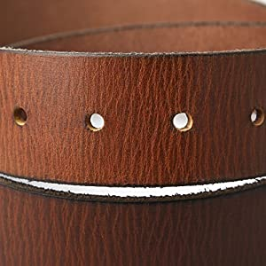 Mens Top Grain Leather Belt with Single Prong Buckle Brown 40mm wide 42