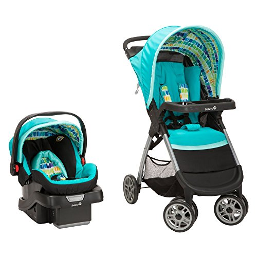 Safety 1st Amble Quad Travel System, Rainbow Ice