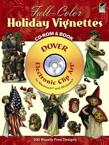 Happy Halloween Clip Art (Full-Color Holiday Vignettes CD-ROM and Book (Dover Electronic Clip)