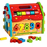 Baby Shape Sorting Houses TelPal Montessori Educational Toy Math Toy for Baby Kid's Gift, Novelty Educational Maths Game Wooden Toys