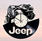 Jeep Off-road Vehicle Vinyl Wall Clock Automobile Unique Gifts Living Room Home Decor