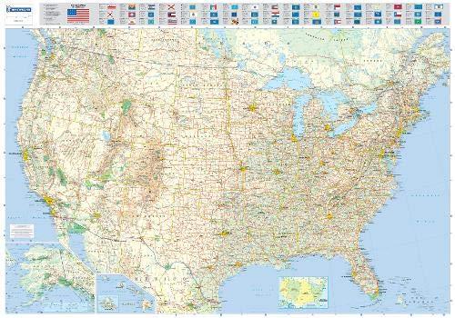 Michelin Map Usa Road 12761 P Rolled Maps Wall Michelin Michelin 9782061009970 Amazon Com Books