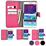 BLU Studio C / C 5 + 5 / C 5 + 5 LTE phone case, COOPER SLIDER Mobile Cell Phone Wallet Protective Case Cover Casing with Open Camera & Credit Card Holder (Pink)