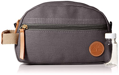 Timberland Men's Travel Kit,Waxed Canvas Grey,One Size
