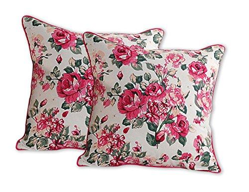 Rose Print Pillow - 6