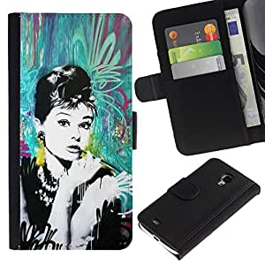 All Phone Most Case / Oferta Especial Cáscara Funda de cuero Monedero Cubierta de proteccion Caso / Wallet Case for Samsung Galaxy S4 Mini i9190 // Vintage Retro Film Movie Cinema