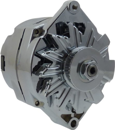 New Chrome Alternator Chevy BBC SBC 100 amp 1 wire 65-85 7127SE-100A-C