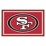 FANMATS NFL San Francisco 49ers Nylon Face 4X6 Plush Rug