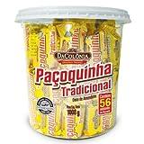 DaColonia Pacoquinha Tradicional Doce de Amendoim 1008 gr. - 56 Ct./Ground Peanut Candy Roll 2.22 lbs. - 56 Ct.