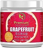 #8: Exfoliating Grapefruit Face & Body Scrub - Best Skin Exfoliator for Face Hand Lip & Body with Sea Salt & Shea Butter Acne & Eczema Treatment Facial Scrubs Exfoliate Stretch Mark Scar Cellulite Remover