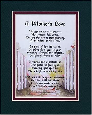 Amazon.com: A Mother's Love, #10, A Mother's Day Present Gift Poem ...