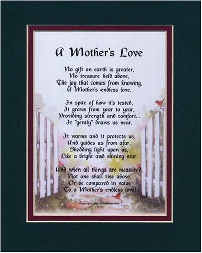 Amazon A Mothers Love 10 Day Present Gift Poem For Moms 60th 70th 80th 90th Birthday Aromatherapy Candles Posters Prints
