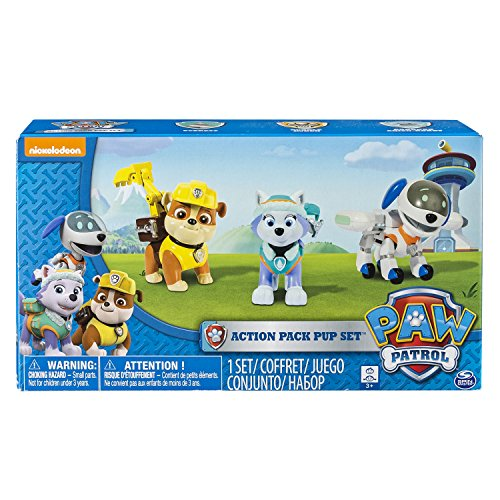 Paw Patrol, Action Pup 3Pk, Everest/Robodog/Rubble (Dog Mobile compare prices)