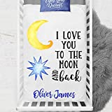 I love you to the moon and back blanket - Personalized