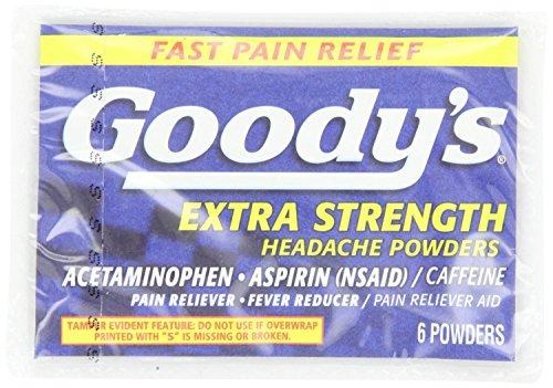 Goodys Extra Strength Headache Powder - Goody's Extra Strength Headache Powders, 6 Count Pack of 5