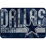 NFL ''Worn Out'' Bath Mat, 20'' x 30'' - Most NFL Teams Available (Dallas Cowboys)